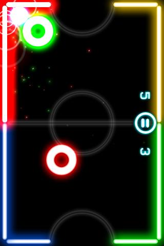 Android Glow Hockey Screen 3