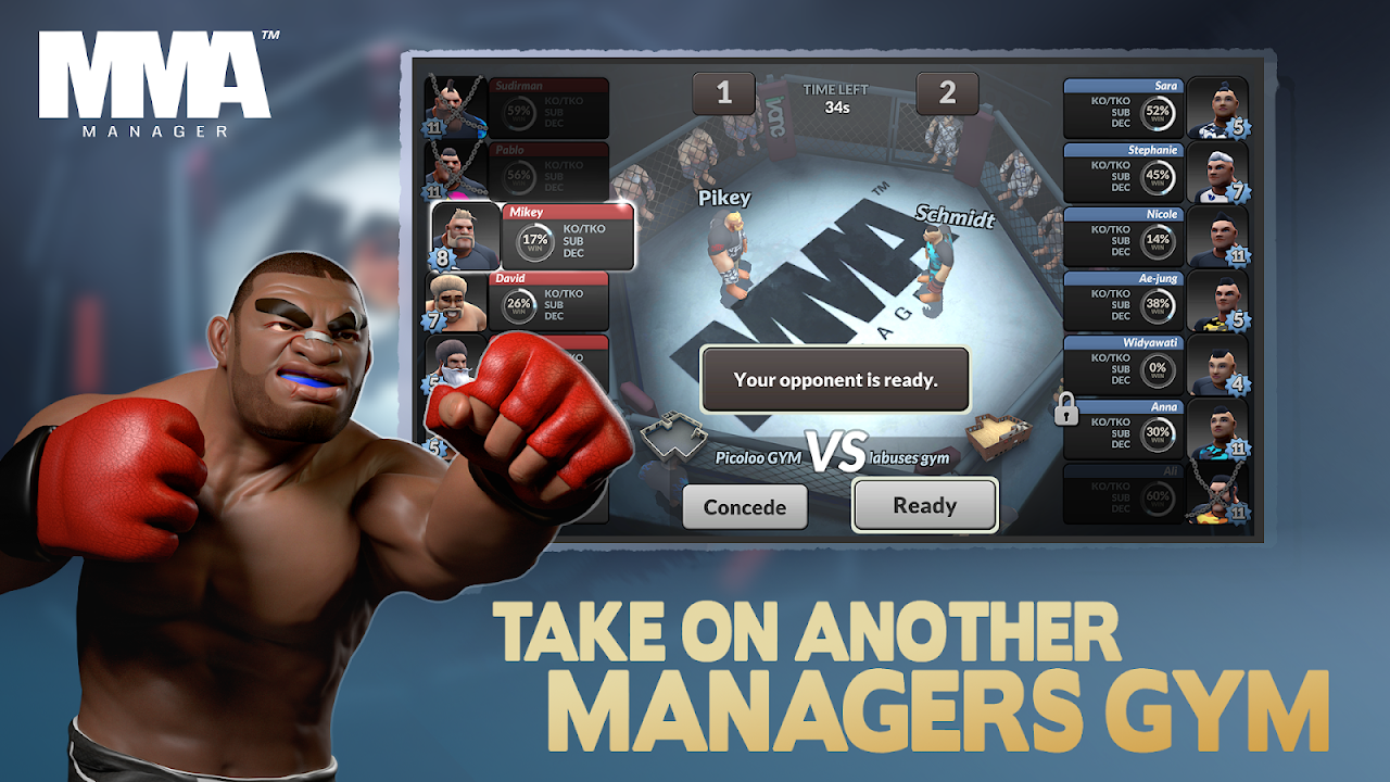 MMA Manager 0.8.4 Screen 3