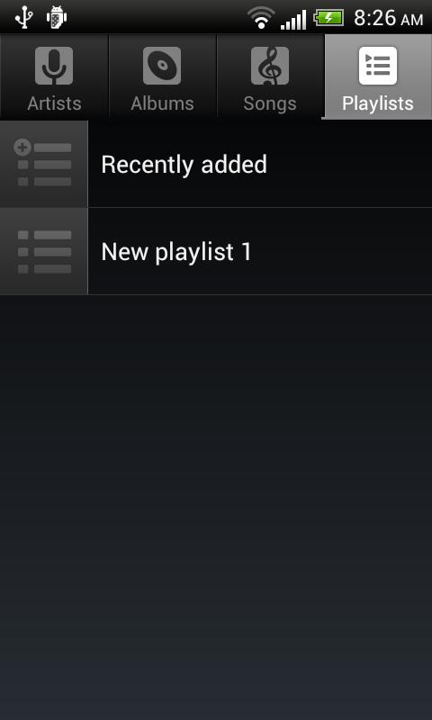 Default Music Player 10.0 Screen 2