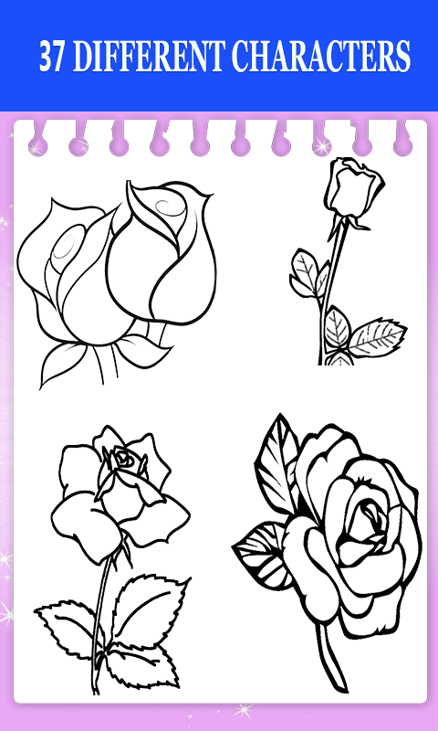 Android Flower Drawing and Coloring Book Screen 2