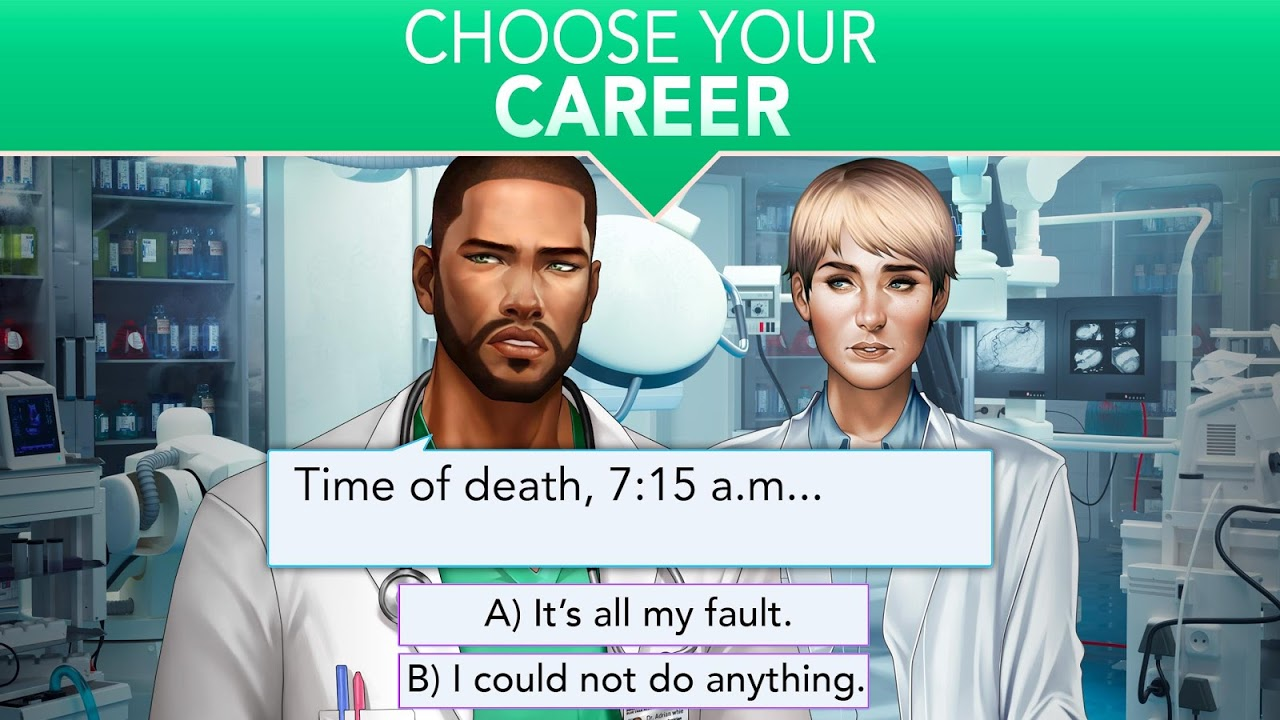 Android Is it Love? Blue Swan Hospital - Choose your story Screen 15