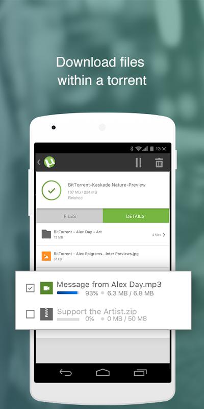 Android ŒµTorrentŒ¬- Torrent Downloader Screen 4
