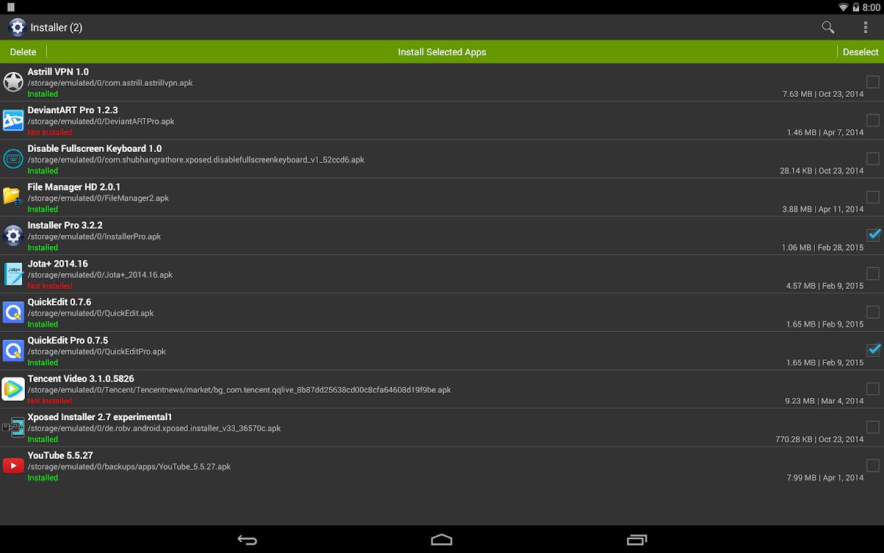 Installer Pro 3.4.2 Screen 5