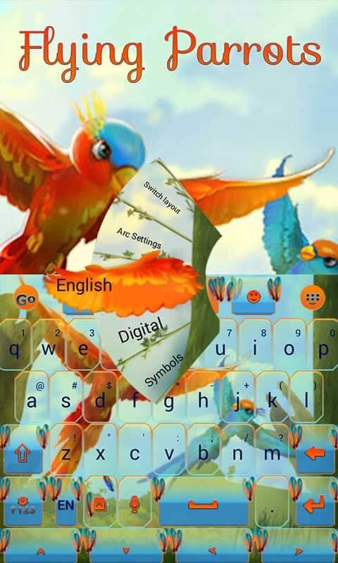 Android Flying Parrot Keyboard Theme Screen 3
