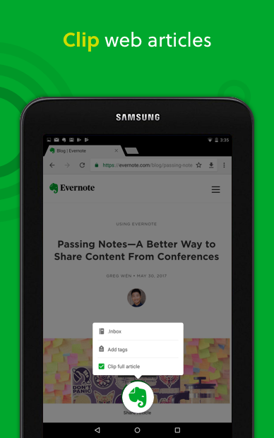 Android Evernote - stay organized. Screen 13