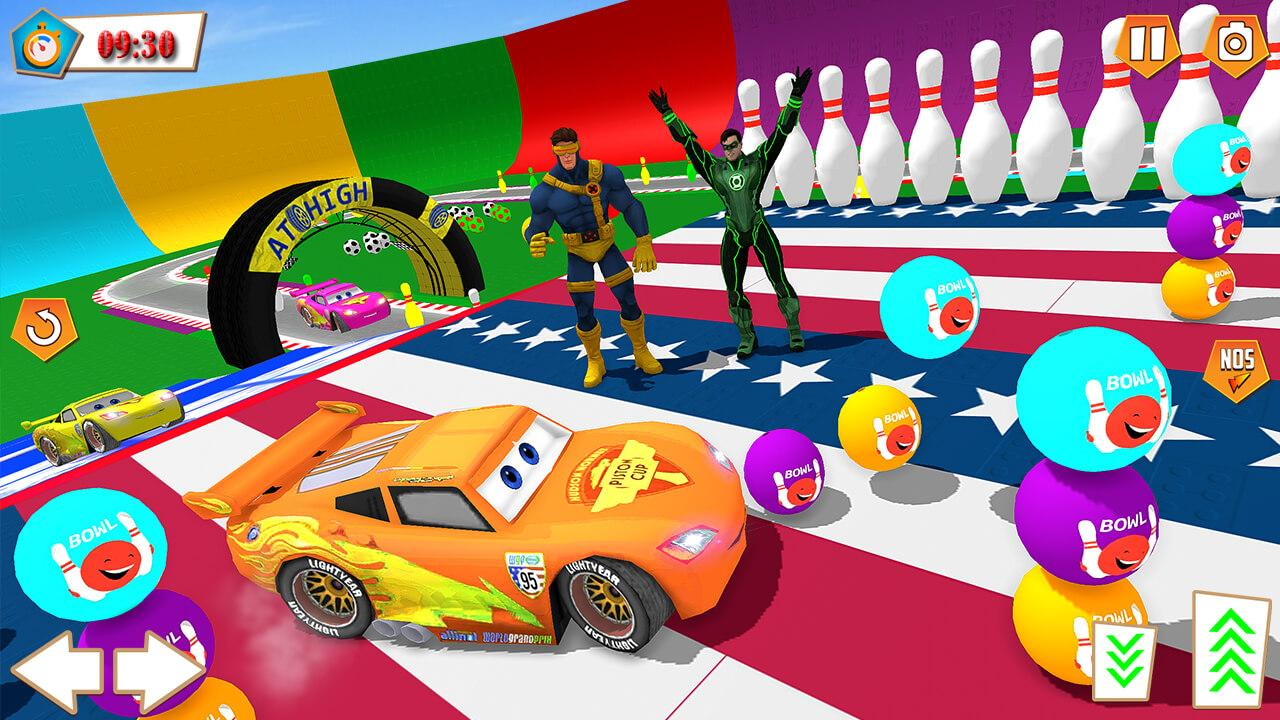 Android Superhero Racing Car driving Stunts Screen 1