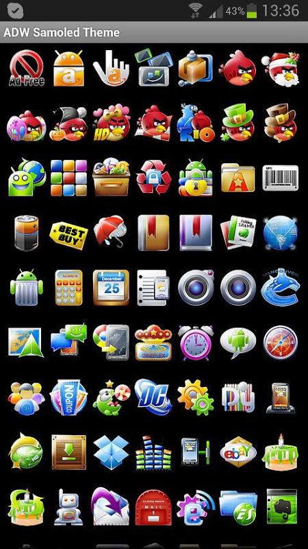 ADW Theme Samoled 1.16 Screen 6