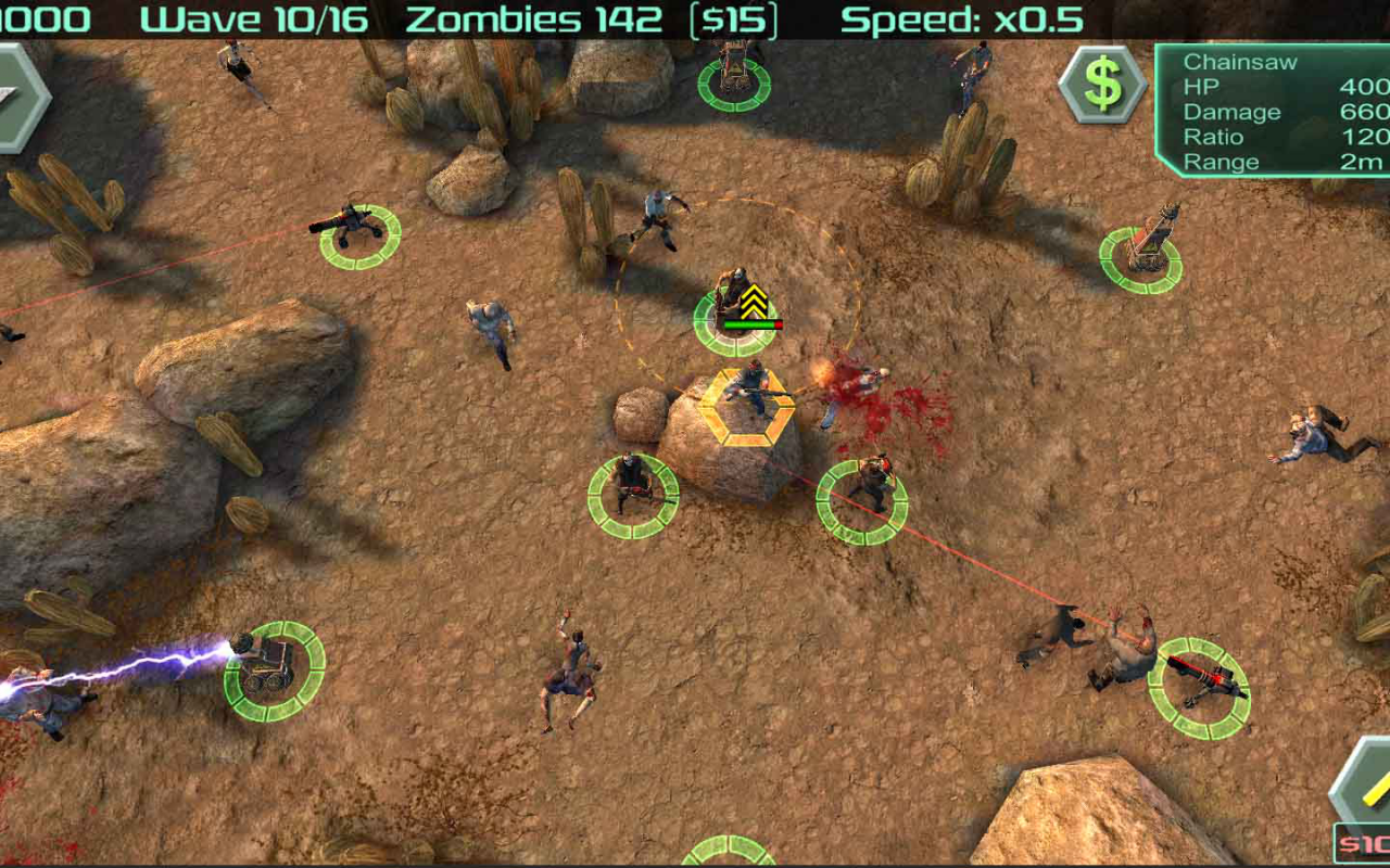 Android Zombie Defense Screen 6