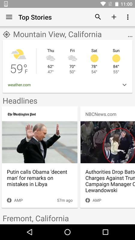 Google News & Weather 2.8.5 (136063537) Screen 2