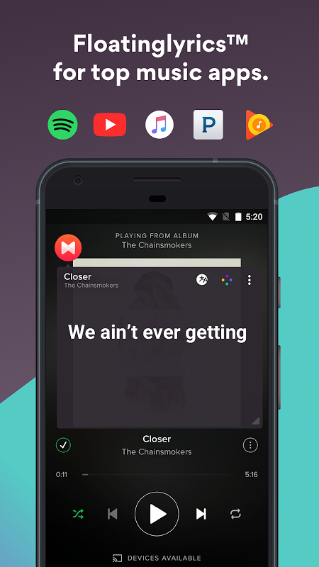 Musixmatch Lyrics 6.7.5 Screen 1