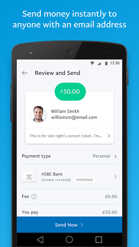 PayPal 7.2.0 Screen 1