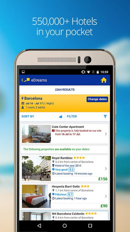 eDreams Cheap Flights & Hotels 4.94.0 Screen 3