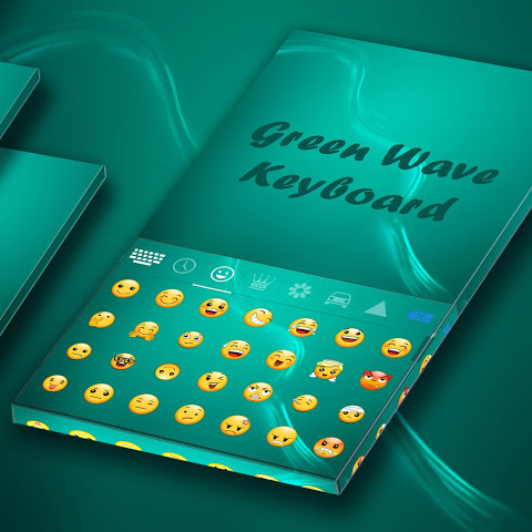 Android Green Wave Animated Keyboard Screen 2