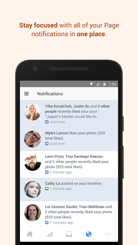 Facebook Pages Manager 137.0.0.9.91 Screen 1