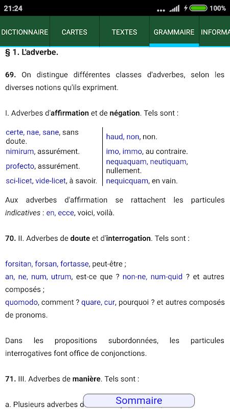 Android Tabula : Dictionnaire latin Screen 2
