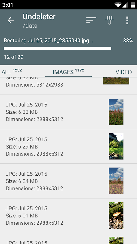 Android Undeleter Recover Files & Data Screen 2