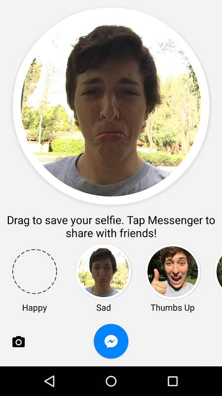 Android Selfied for Messenger Screen 1