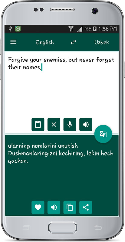 Android English Uzbek Translate Screen 1