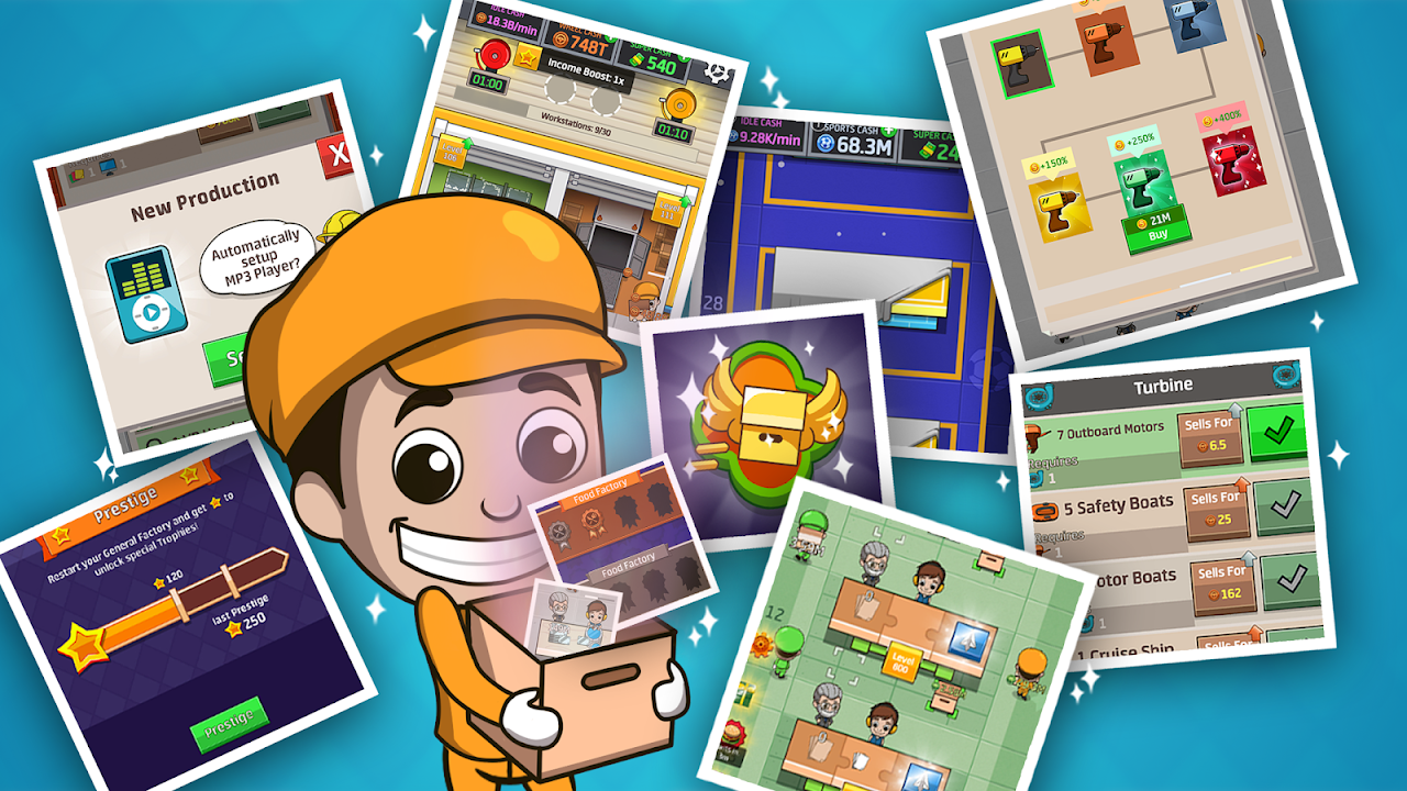Android Idle Factory Tycoon Screen 1