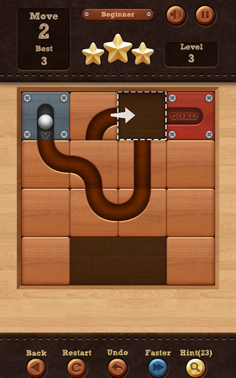 Roll the Ball� - slide puzzle 1.7.46 Screen 1