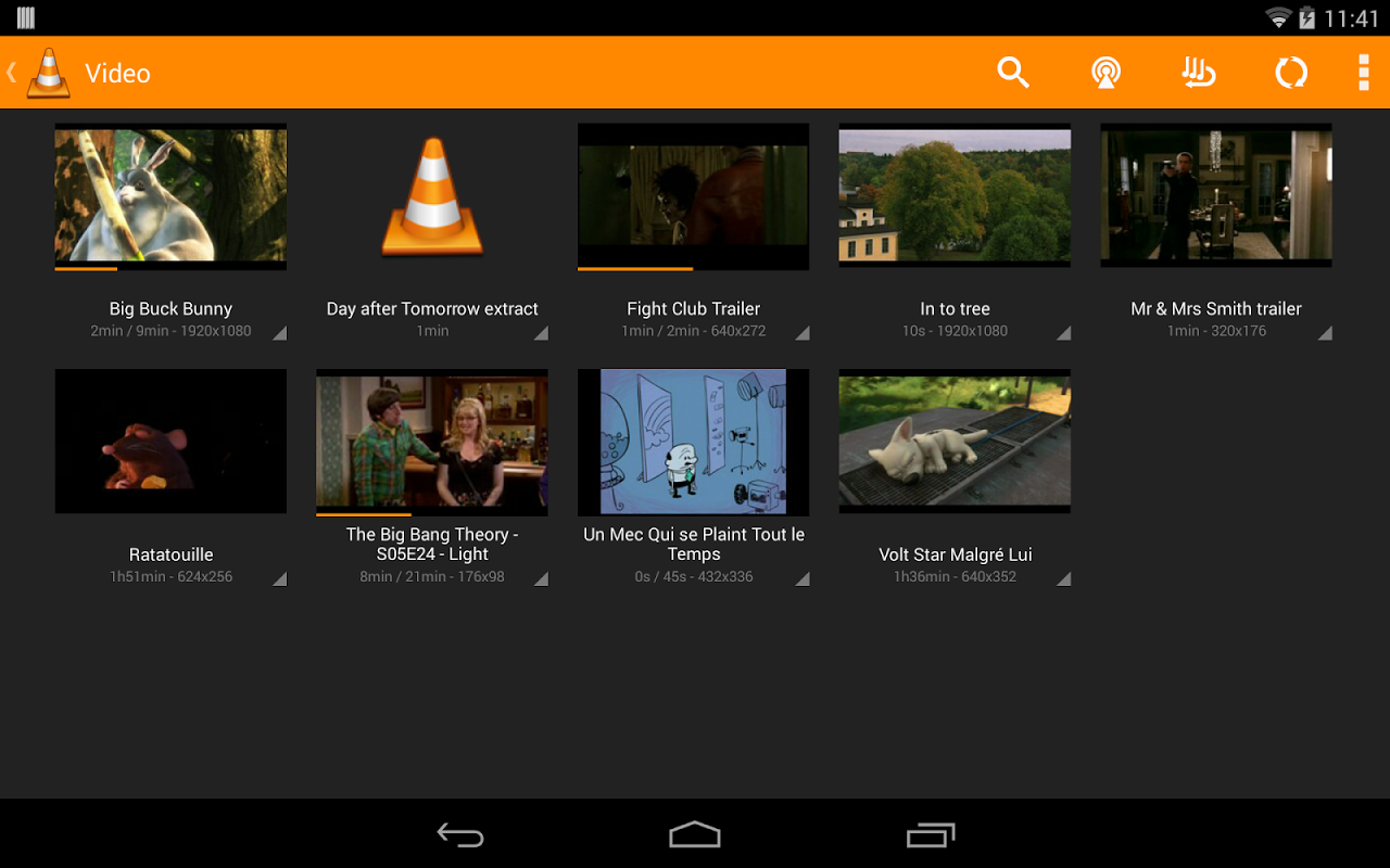 Android VLC for Android Beta Screen 1