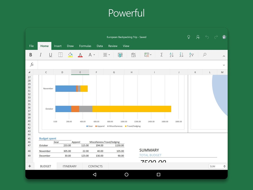Android Microsoft Excel Screen 5