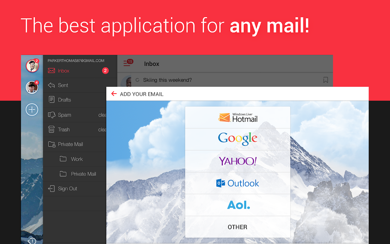 myMail – Email for Hotmail, Gmail and Outlook Mail 8.7.0.26218 Screen 5