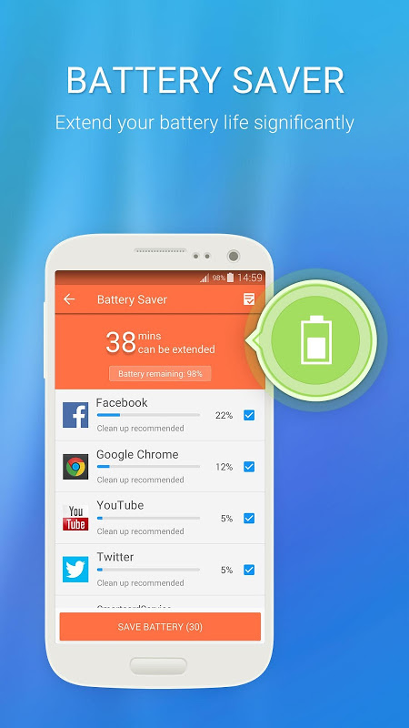 Android 360 Security Lite Speed Boost Screen 4