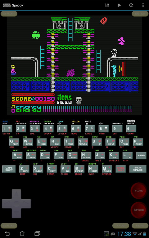 Speccy - ZX Spectrum Emulator 3.3.3 Screen 1