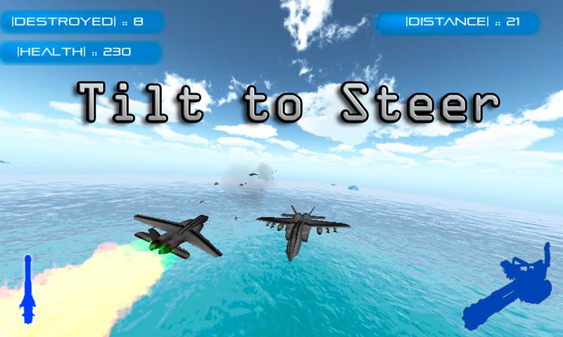 Android Jet Fighter: Air Combat Screen 1