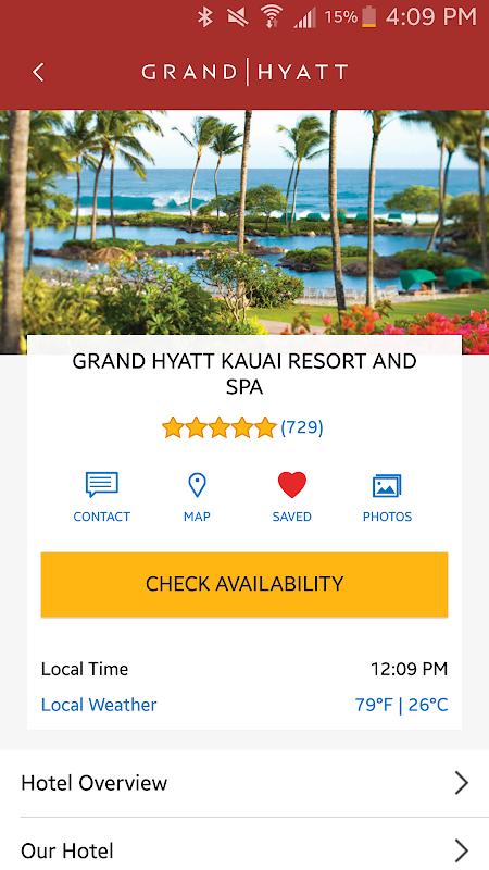 Hyatt Hotels 3.42.1 Screen 1