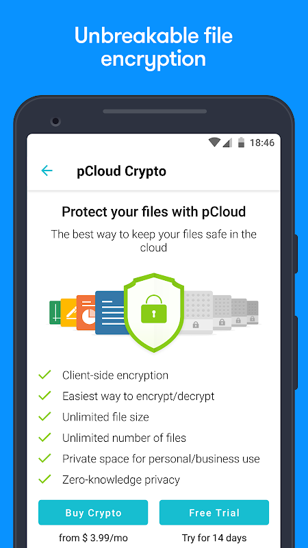 Android pCloud: Free Cloud Storage Screen 2
