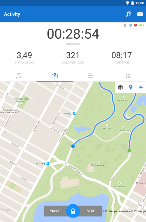 Android Runtastic PRO Running, Fitness Screen 17