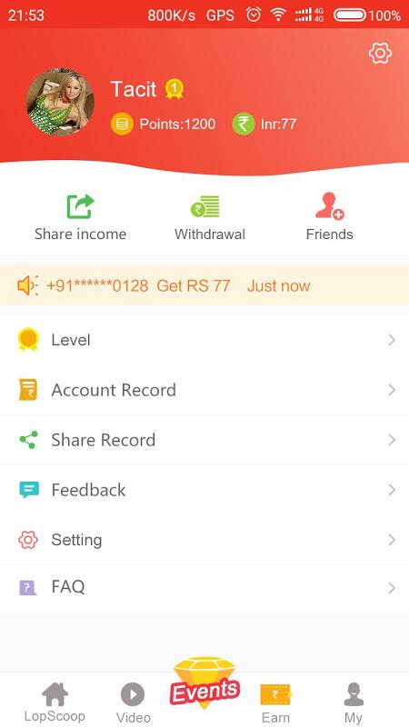 Lopscoop: Best News APP  India ,Earn Extra Money 4.0.2 Screen 2