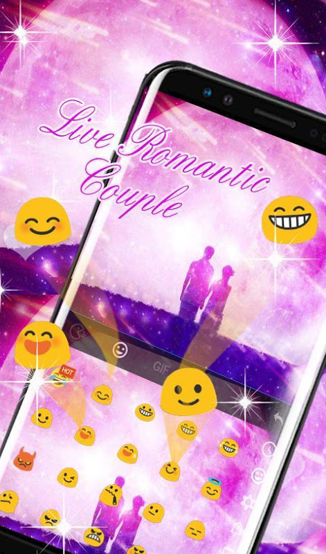 Android Live Romantic Couple Keyboard Theme Screen 3