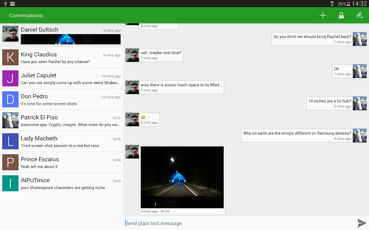 Android Conversations (Jabber / XMPP) Screen 7
