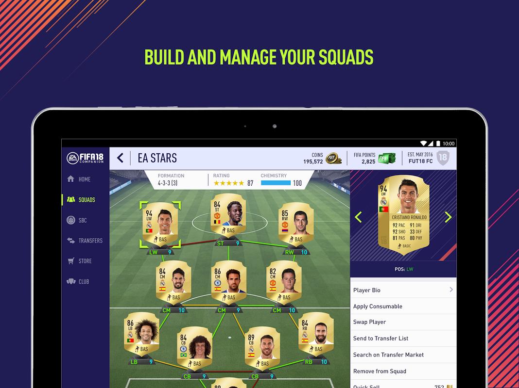Android EA SPORTS™ FIFA 18 Companion Screen 2