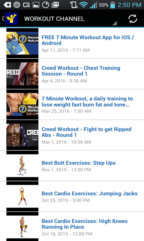Android Workout Trainer Screen 4