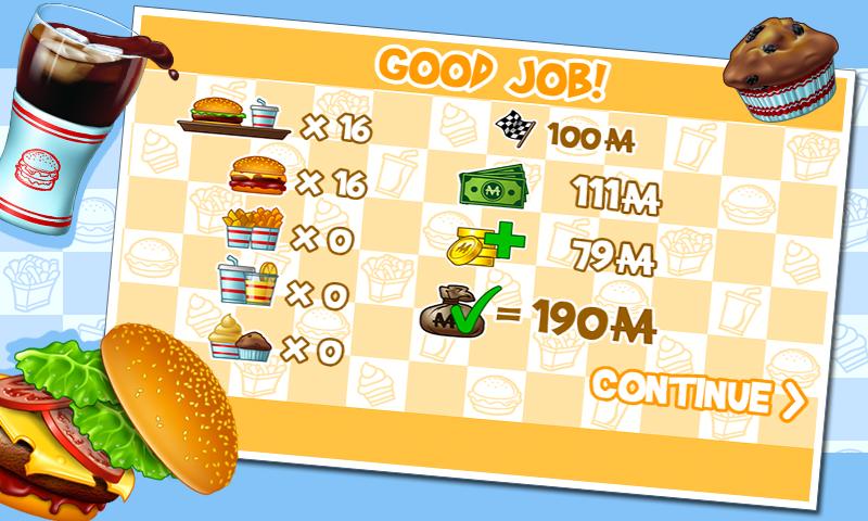 Android Burger Screen 3