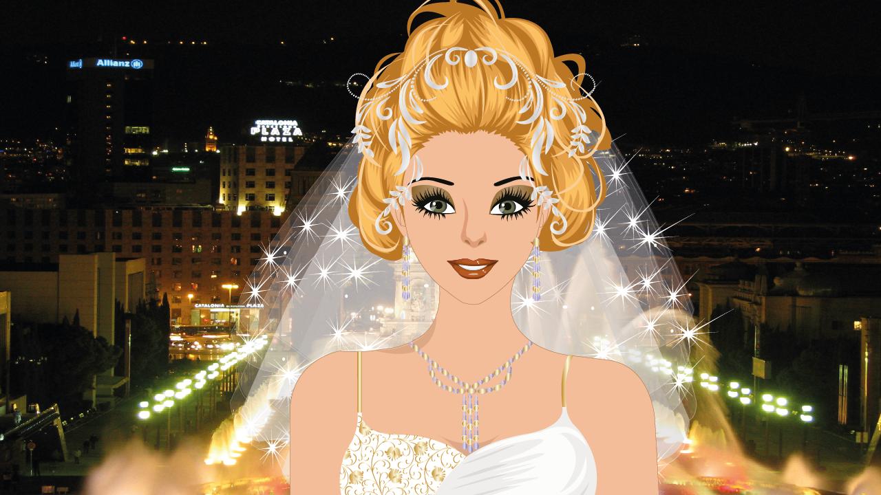 Android Barcelona Wedding Makeup Game Screen 3