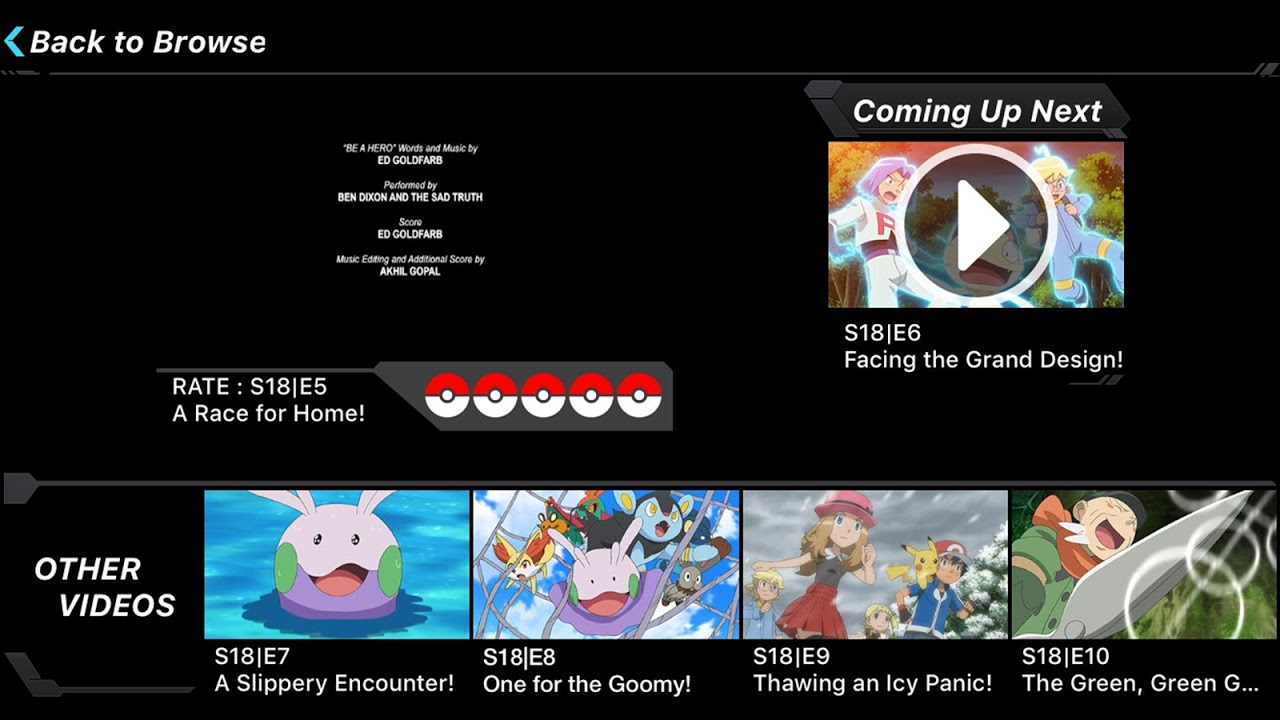 Android Pokémon TV Screen 4