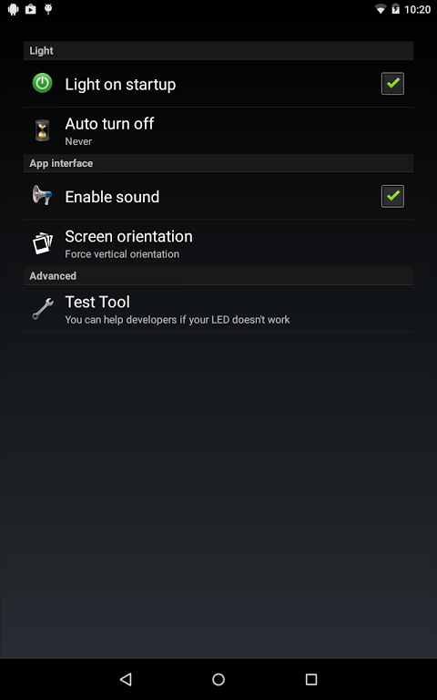 Torch Flashlight LED HD 1.94.08 (Google Play) Screen 5