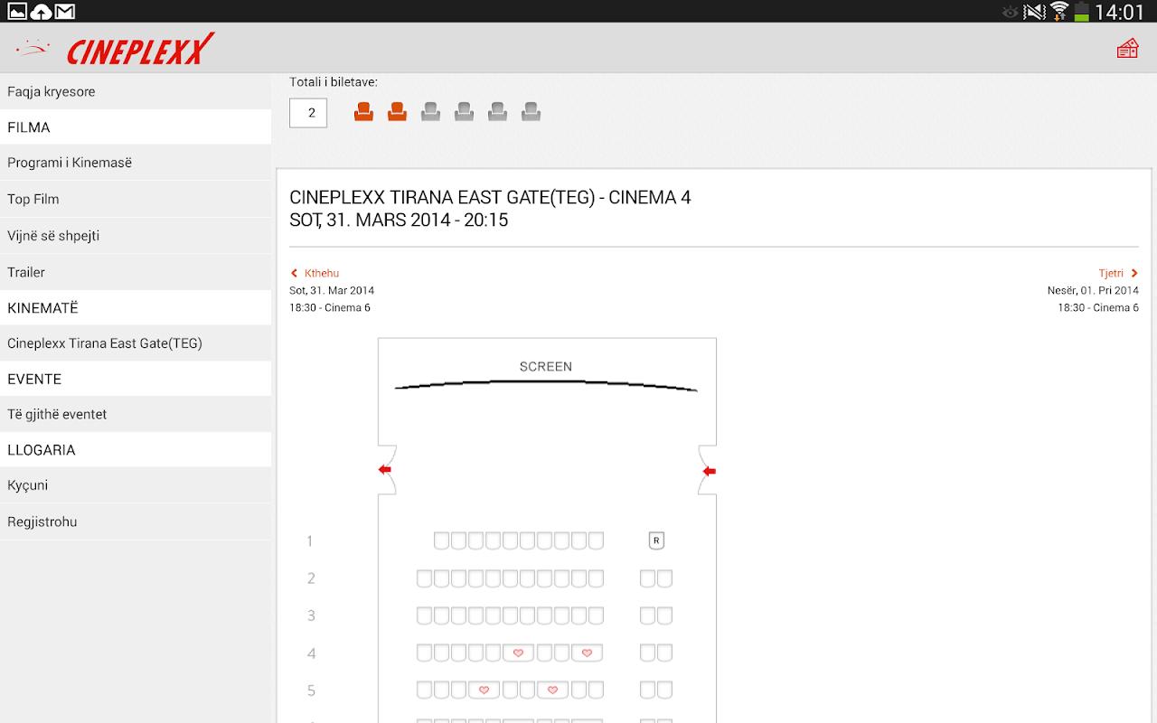 Cineplexx Shqipëria 3.9.3 Screen 8