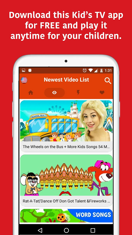 Android KidTV Screen 1