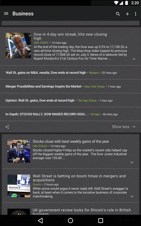 Google News & Weather 2.8.5 (136063537) Screen 8