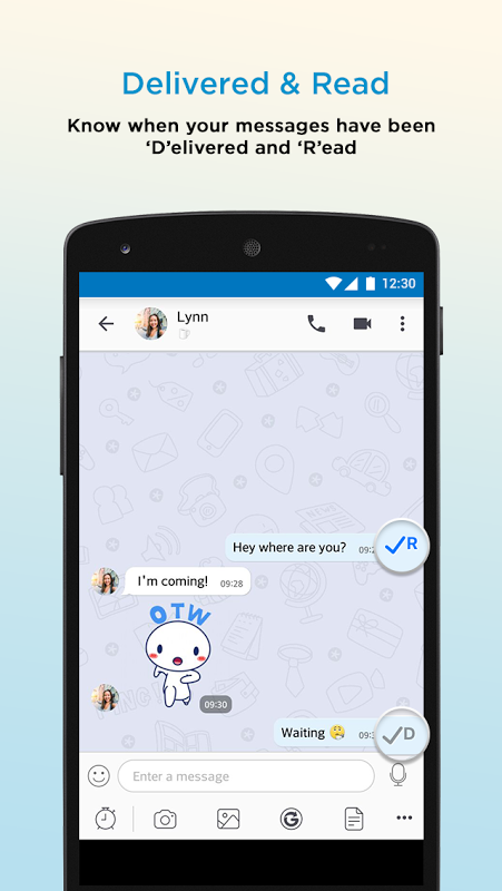 Android BBM - Free Calls & Messages Screen 6
