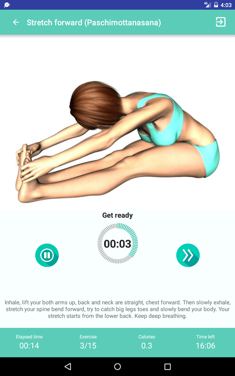 Android Yoga for super weight loss Screen 6