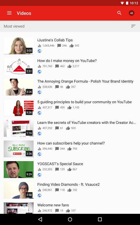 YouTube Creator Studio 1.8.4 Screen 5