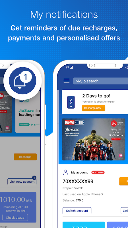 Android MyJio: For Everything Jio Screen 6