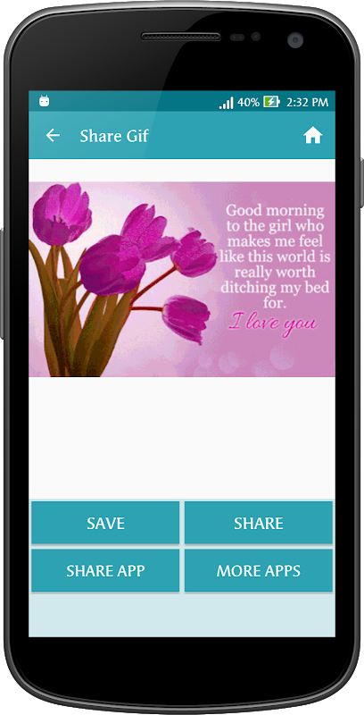 Android Gif Good Morning Messages Collection Screen 3